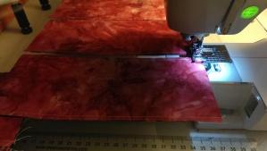 Chain Stitching Bottom of Silverware Holders