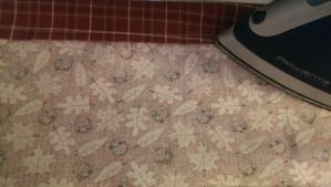 Press seam towards the decorative fabric